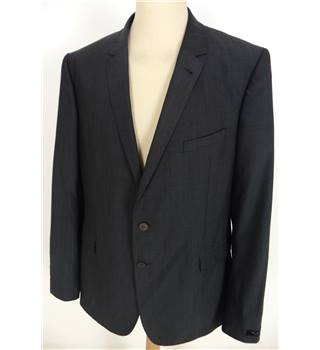 "Ted Baker Size: Large, 44"" chest, tailored fit Grey Smart/Stylish ""Slick Rick""  Wool Single Breasted Designer Jacket."