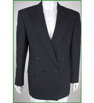 Pierre Cardin - Size: 40L - Charcoal Grey - 100% Wool - Double breasted suit jacket