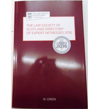 The Law Society of Scotland Directory of Expert Witness 2016