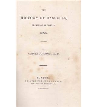 The History of Rasselas, Prince of Abyssinia - Samuel Johnson - 1828