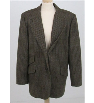 J H Collectibles Size: 16 brown check jacket