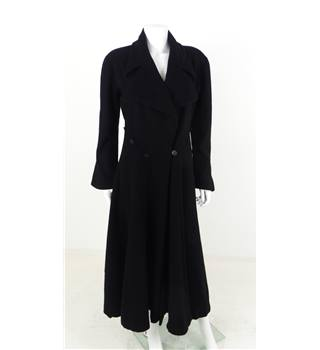 Vintage 1980s Chloe Size M Black Smart Coat