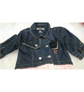 Burberry - Girls - Denim Jacket with Lace Insert - Age 6 Months