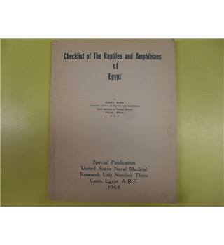 Checklist of The Reptiles and Amphibians of Eqypt