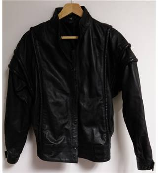 Unbranded Size M Black Leather Jacket