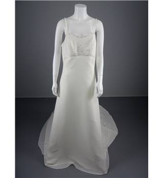 Lovely Eternity Bridal Ivory Size 16 Column Dress With Gorgeous Beadwork