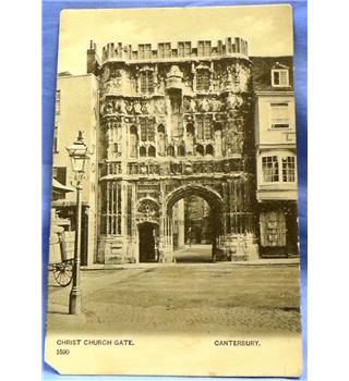 Historic Postcard, postally unused: Christ Church Gate, Canterbury