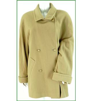 Vintage - St Michael - Size: 16 - Brown - Wool Coat