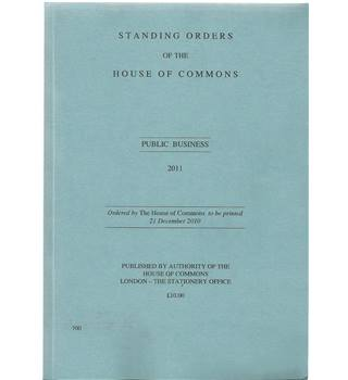 Standing Orders of the House of Commons