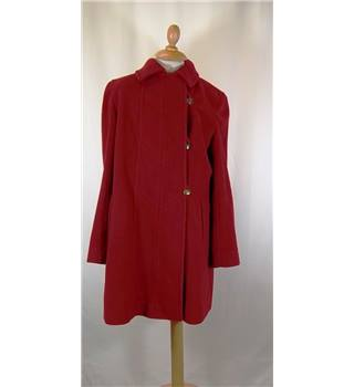 Jacques Vert - Size: 14 - Red - Smart jacket / coat