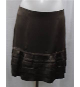 Gerard Darel brown silk skirt Size M