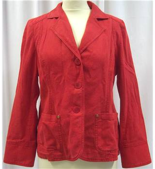 Viyella - Size: 10 - Red - Light Jacket