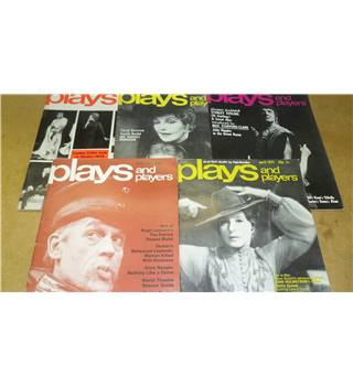Plays and Players - 5 magazines 1971