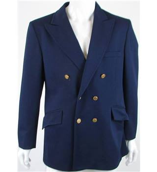"Vintage Handgrade size: Chest 44"" blue double breasted suit jacket"