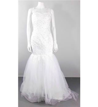 Unbranded Size 10 Gorgeous White Fish Tail Wedding Gown