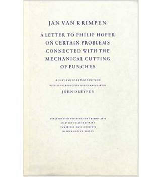 A Letter to Philip Hofer on Certain Problems Connected With the Mechanical Cutting of Punches