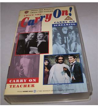 Twice the Carry On! Carry On Teacher and Carry On Screaming PG VHS