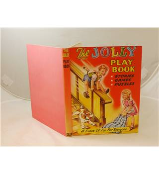The Jolly Play Book Stories Games and Puzzles publ Collins c 1955 profusely illustrated