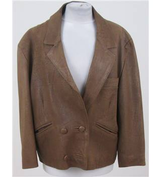 Unbranded size 12 tan leather jacket