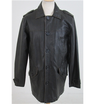 Unbranded size L black faux leather jacket