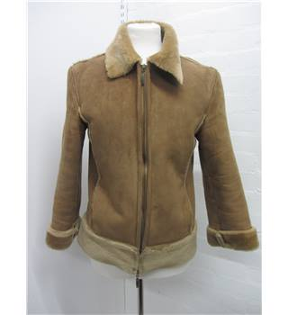 Ladies Beige Jacket M&S Marks & Spencer - Size: M - Beige - Jacket