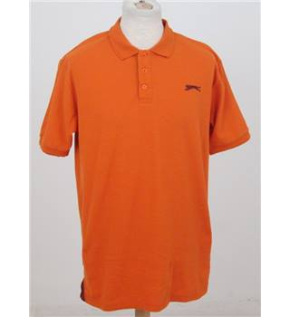 Slazenger size: L orange polo shirt