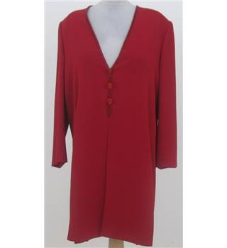 Frank Usher size: 12, red long tunic