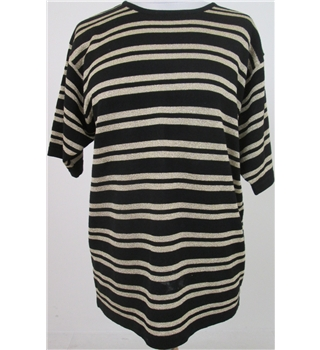 Viyella size: S black short sleeved top