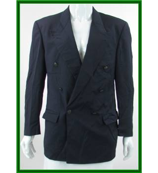 Boss Hugo Boss - Size: 40R - Navy Blue - 100% Virgin Wool - Double breasted suit jacket