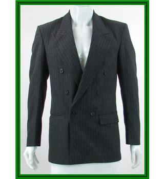 Louis Phillipe - Size: 40R - Charcoal Grey - Wool Mix - Double breasted suit jacket