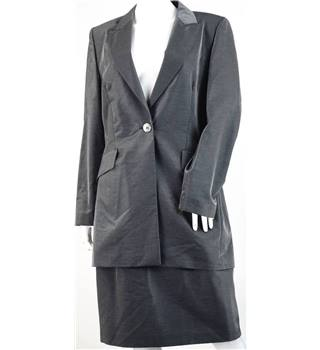 Occasion Line by Vera Mont size: 14 grey wool mix skirt suit