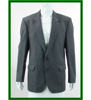 Daks Signature - Size: 42L - Stone Grey - 100% Wool - Single breasted suit jacket
