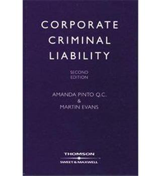 Corporate Criminal Liability. Second Edition.