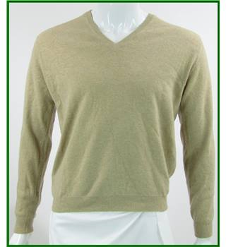 House Of Tweed - Size: S - Beige - 100% Lambswool Jumper