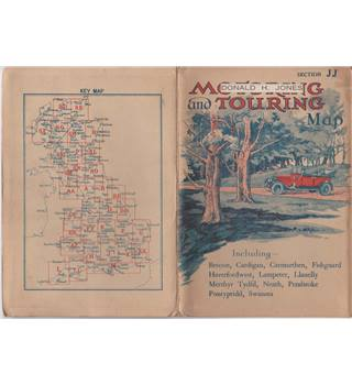 Motoring & Touring Map Section JJ South Wales