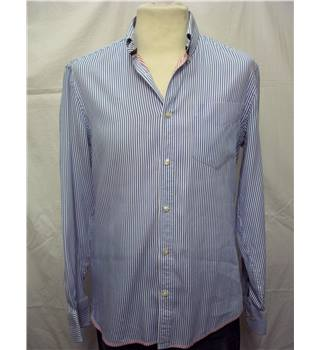 M&S Marks & Spencer - Size: S - Blue and White - Long sleeved shirt