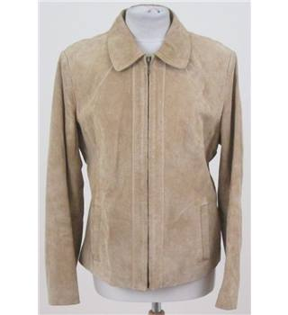 WS Leather Size: L camel suede jacket