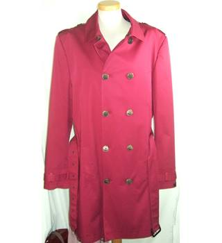 BNWOT Ted Baker Size 44R Fuschia Red Trench Coat
