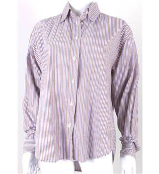 Aquascutum Size: M Multi-Coloured Striped Long Sleeved Shirt