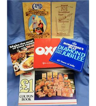 Cookery Memorabilia - nostalgic recipes including Camp Coffee, Rowntree's Jelly, Paxo, Oxo, Dried Eggs, Walls Sausages.