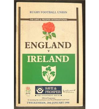 Rugby Programmes - England vs Ireland - 1990s - 4 miscellaneous