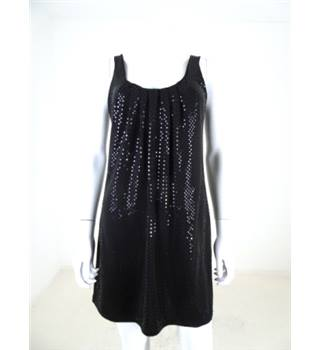 Warehouse Size 10 Black Sequin Detail Mini Dress