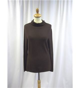 Gardeur - Size: L - Brown - Roll neck top