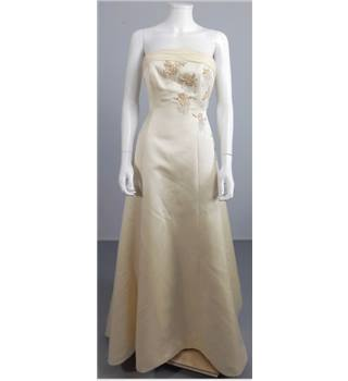 Tracy Connop Size 8 Gold Strapless Bridal Gown