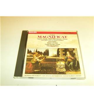 Bach Magnificat English Baroque Soloists John Eliot Gardiner Argenta Rolfe-Johnson etc CD Philips 411 458-2