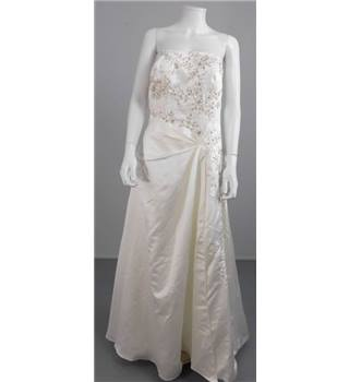 Unbranded Size 14 Ivory Strapless Wedding Dress
