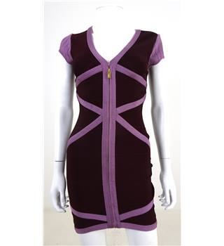 Stretta Size S Violet And Plum Bandage Dress