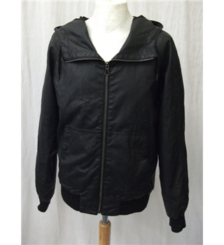 *Irreverence size: M black faux leather bomber jacket