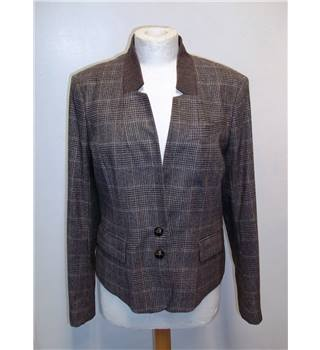 BNWT Great Plains Size Medium Brown Tweed Check Jacket