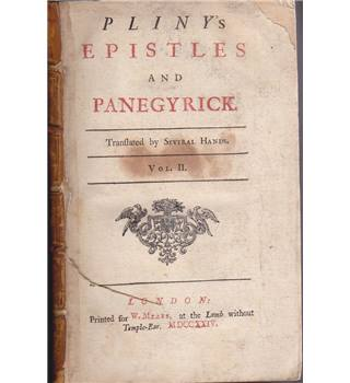 Pliny's Epistles And Panegyrick (1724)